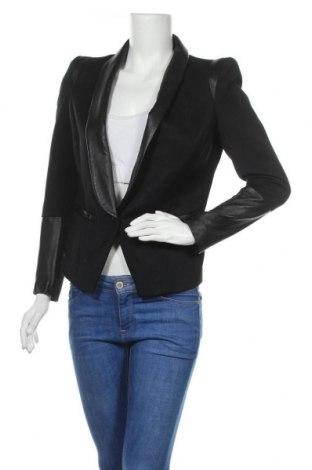Дамско сако 2ND Day, Размер S, Цвят Черен, Естествена кожа, полиестер, вълна, вискоза, Цена 64,50лв.