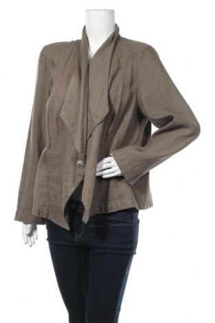 Γυναικείο σακάκι Bonita, Μέγεθος XXL, Χρώμα Πράσινο, 50% βαμβάκι, 50% λινό, Τιμή 13,58€