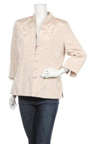 Дамско сако Jaclyn Smith, Размер XL, Цвят Бежов, 46% полиестер, 40% памук, 14% лен, Цена 11,39лв.