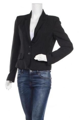 Γυναικείο σακάκι Motivi, Μέγεθος M, Χρώμα Μαύρο, 75% πολυεστέρας, 23% βισκόζη, 2% ελαστάνη, Τιμή 6,14€