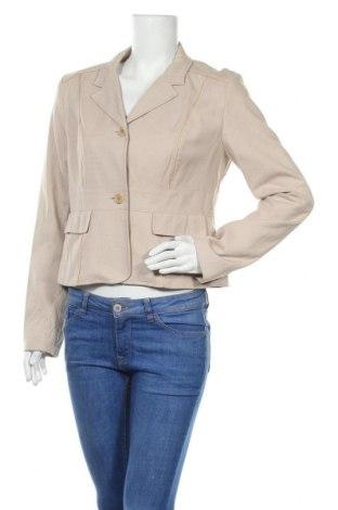 Дамско сако Reiss, Размер M, Цвят Бежов, 55% памук, 45% коприна, Цена 25,19лв.
