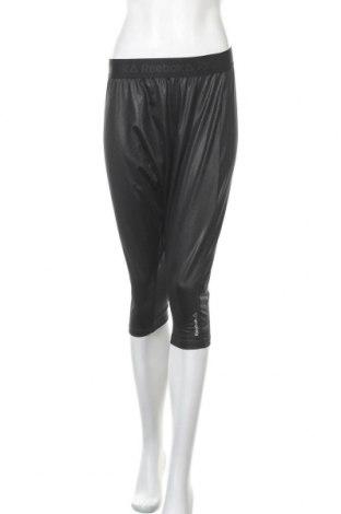 Дамско спортно долнище Reebok, Размер S, Цвят Черен, 92% полиестер, 8% еластан, Цена 27,30лв.