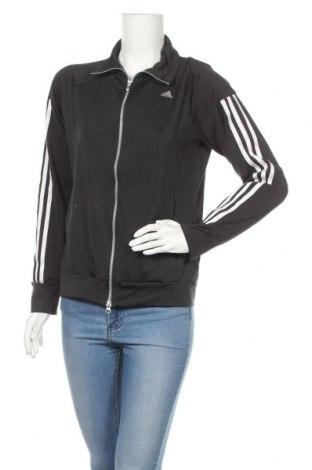 Дамско спортно горнище Adidas, Размер M, Цвят Черен, 88% полиестер, 12% еластан, Цена 29,25лв.