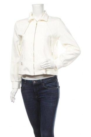 Дамско спортно горнище Massimo Dutti, Размер S, Цвят Бял, 80% памук, 19% полиамид, 1% еластан, Цена 51,45лв.