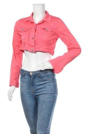 Дамско яке Denim&Co., Размер M, Цвят Розов, 97% памук, 3% еластан, Цена 32,92лв.