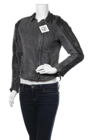 Γυναικείο μπουφάν Gipsy, Μέγεθος L, Χρώμα Γκρί, Βαμβάκι, φυσική τρίχα, Τιμή 17,96€