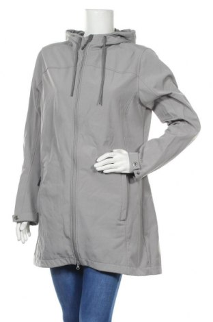 Дамско яке Up 2 Fashion, Размер L, Цвят Сив, 88% полиестер, 12% еластан, Цена 28,67лв.
