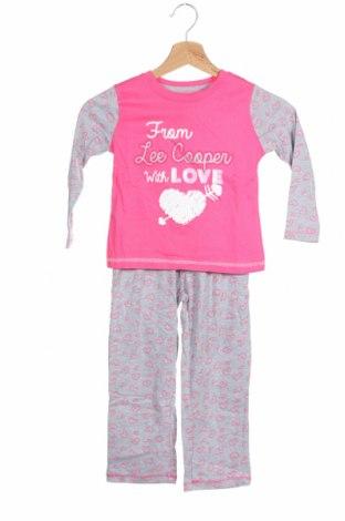 Детска пижама Lee Cooper, Размер 3-4y/ 104-110 см, Цвят Многоцветен, Памук, Цена 36,75лв.