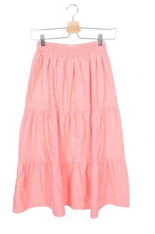 Παιδική φούστα Mango, Μέγεθος 10-11y/ 146-152 εκ., Χρώμα Ρόζ , 88% βαμβάκι, 12% λινό, Τιμή 17,18€