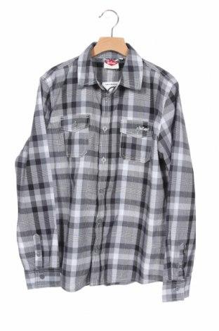 Детска риза Lee Cooper, Размер 12-13y/ 158-164 см, Цвят Сив, 65% полиестер, 35% памук, Цена 12,92лв.