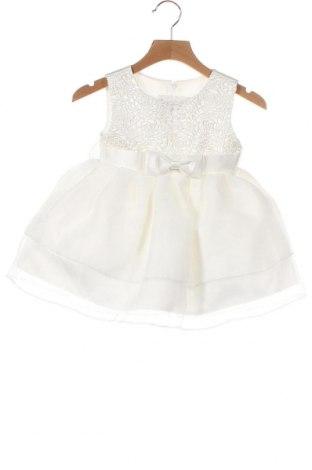 Παιδικό φόρεμα, Μέγεθος 9-12m/ 74-80 εκ., Χρώμα Λευκό, 80% πολυεστέρας, 20% βαμβάκι, Τιμή 17,78€