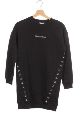 Детска рокля Calvin Klein Jeans, Размер 13-14y/ 164-168 см, Цвят Черен, Памук, Цена 72,27лв.