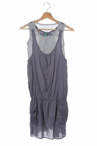 Dětské šaty  United Colors Of Benetton, Velikost 10-11y/ 146-152 cm, Barva Šedá, Bavlna, Cena  333,00Kč
