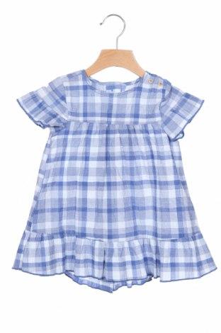 Παιδικό φόρεμα Zara Kids, Μέγεθος 18-24m/ 86-98 εκ., Χρώμα Μπλέ, 66% βαμβάκι, 34% πολυεστέρας, Τιμή 16,40€
