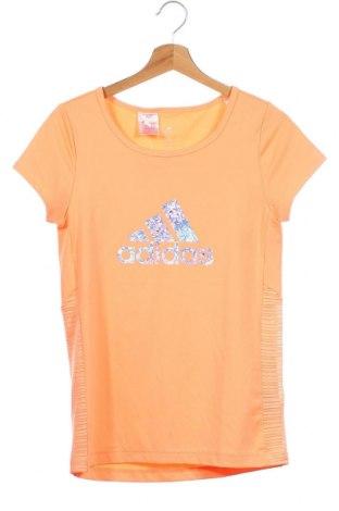 Παιδικό μπλουζάκι Adidas, Μέγεθος 13-14y/ 164-168 εκ., Χρώμα Πορτοκαλί, 91% πολυεστέρας, 9% ελαστάνη, Τιμή 11,11€