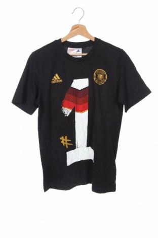 Παιδικό μπλουζάκι Adidas, Μέγεθος 15-18y/ 170-176 εκ., Χρώμα Μαύρο, Βαμβάκι, Τιμή 12,86€