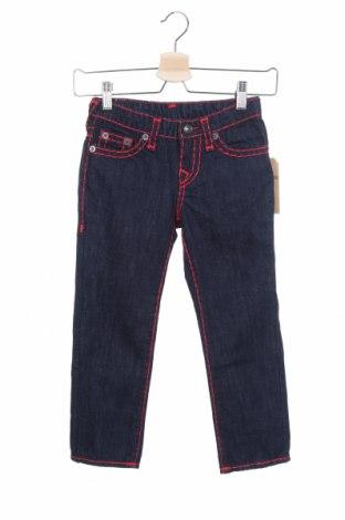 Детски дънки True Religion, Размер 6-7y/ 122-128 см, Цвят Син, Цена 51,62лв.