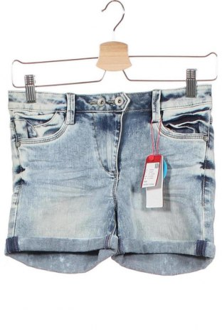 Παιδικό κοντό παντελόνι S.Oliver, Μέγεθος 9-10y/ 140-146 εκ., Χρώμα Μπλέ, 66% βαμβάκι, 29% πολυεστέρας, 3% βισκόζη, 2% ελαστάνη, Τιμή 20,10€