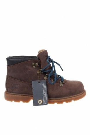 Детски обувки Caterpillar, Размер 37, Цвят Кафяв, Естествена кожа, Цена 59,15лв.