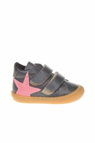 Παιδικά παπούτσια Little Celebs, Μέγεθος 19, Χρώμα Γκρί, Γνήσιο δέρμα, Τιμή 16,06€