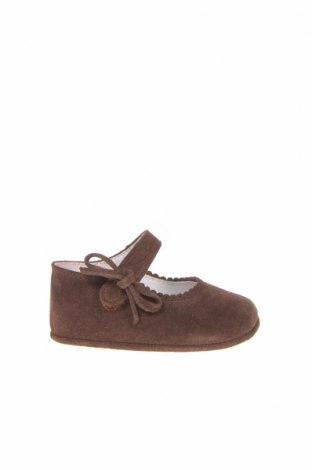 Детски обувки Lola Palacios, Размер 17, Цвят Кафяв, Естествен велур, Цена 37,62лв.