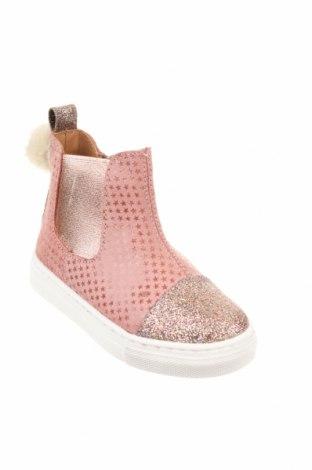Детски обувки Oca-Loca, Размер 24, Цвят Розов, Естествен велур, Цена 39,27лв.