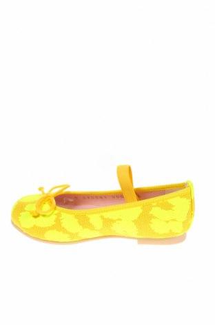 Детски обувки Pretty Ballerinas, Размер 24, Цвят Жълт, Текстил, Цена 29,67лв.