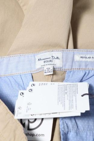 Παιδικό παντελόνι Massimo Dutti, Μέγεθος 10-11y/ 146-152 εκ., Χρώμα  Μπέζ, 97% βαμβάκι, 3% ελαστάνη, Τιμή 13,52€