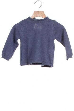 Детски пуловер Neck & Neck, Размер 18-24m/ 86-98 см, Цвят Син, 85% памук, 15% вълна, Цена 29,76лв.