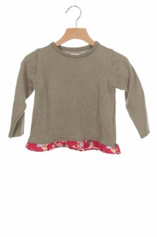 Детски пуловер Neck & Neck, Размер 18-24m/ 86-98 см, Цвят Зелен, 85% памук, 15% вълна, Цена 30,72лв.