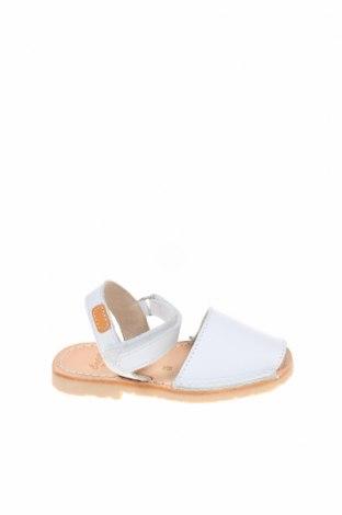 Детски сандали Castell, Размер 25, Цвят Бял, Естествена кожа, Цена 59,25лв.