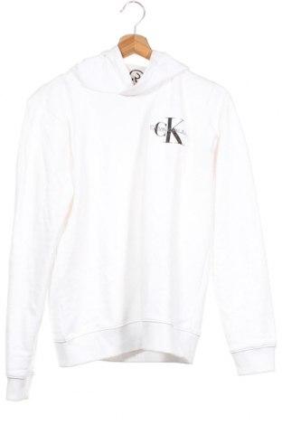 Детски суичър Calvin Klein Jeans, Размер 15-18y/ 170-176 см, Цвят Бял, Памук, Цена 51,75лв.