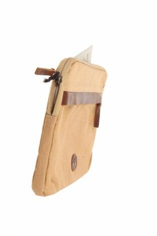 Калъф за лаптоп Timberland, Цвят Кафяв, Текстил, естествена кожа, Цена 41,65лв.