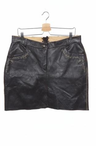 Кожена пола, Размер XS, Цвят Кафяв, Естествена кожа, Цена 49,98лв.