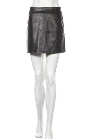 Кожена пола H&M, Размер S, Цвят Черен, Еко кожа, Цена 5,84лв.