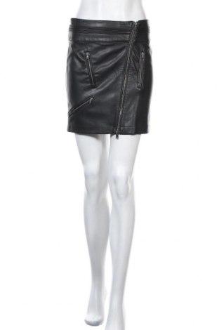 Кожена пола Patrizia Pepe, Размер S, Цвят Черен, Еко кожа, Цена 78,80лв.