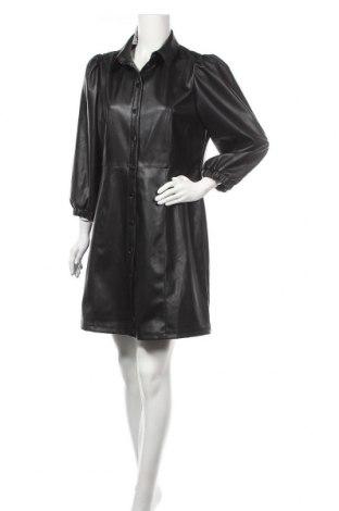 Кожена рокля ONLY, Размер XL, Цвят Черен, Еко кожа, Цена 59,25лв.