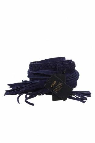 Ζώνη Maje, Χρώμα Μπλέ, Φυσικό σουέτ, Τιμή 59,83€