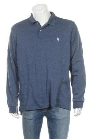 Мъжка блуза U.S. Polo Assn., Размер L, Цвят Син, 60% памук, 40% полиестер, Цена 55,44лв.