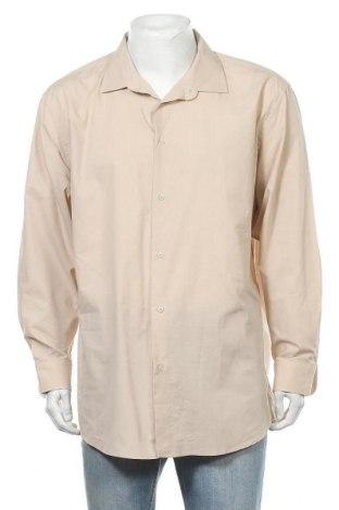 Мъжка риза Adrienne Vittadini, Размер XXL, Цвят Бежов, 60% памук, 40% полиестер, Цена 7,09лв.