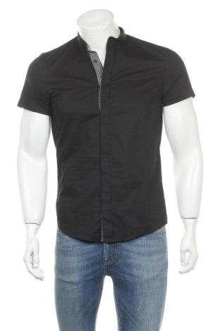 Мъжка риза Antony Morato, Размер S, Цвят Черен, 76% памук, 21% полиамид, 3% еластан, Цена 18,48лв.