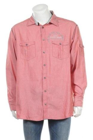 Мъжка риза Bonita, Размер XXL, Цвят Червен, Памук, Цена 20,79лв.