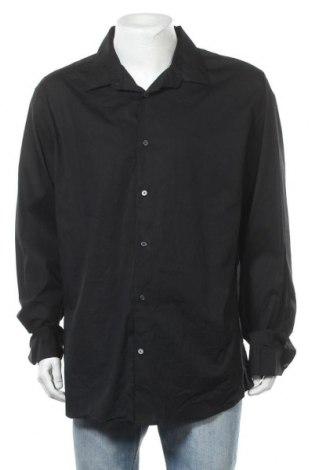 Мъжка риза George, Размер XXL, Цвят Черен, 7% памук, 3% еластан, Цена 17,01лв.