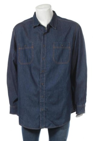 Мъжка риза George, Размер XXL, Цвят Син, Памук, Цена 23,10лв.