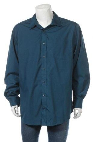 Мъжка риза George, Размер XXL, Цвят Син, 55% памук, 45% полиестер, Цена 19,85лв.