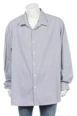 Мъжка риза George, Размер 5XL, Цвят Син, 60% памук, 40% полиестер, Цена 24,15лв.