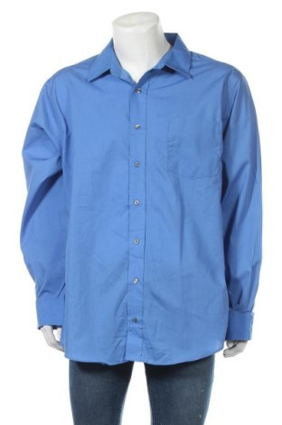 Мъжка риза George, Размер XXL, Цвят Син, 55% памук, 45% полиестер, Цена 19,95лв.