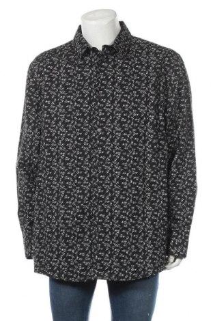 Мъжка риза George, Размер XXL, Цвят Черен, 97% памук, 3% еластан, Цена 17,85лв.