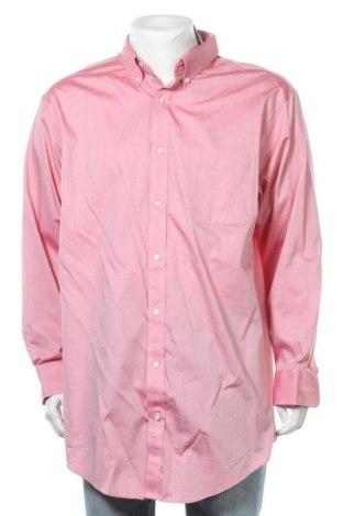 Мъжка риза Land's End, Размер XXL, Цвят Розов, Памук, Цена 6,98лв.