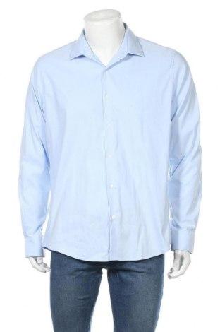 Мъжка риза Lawrence Grey, Размер XL, Цвят Син, 69% памук, 27% полиамид, 4% еластан, Цена 70,95лв.